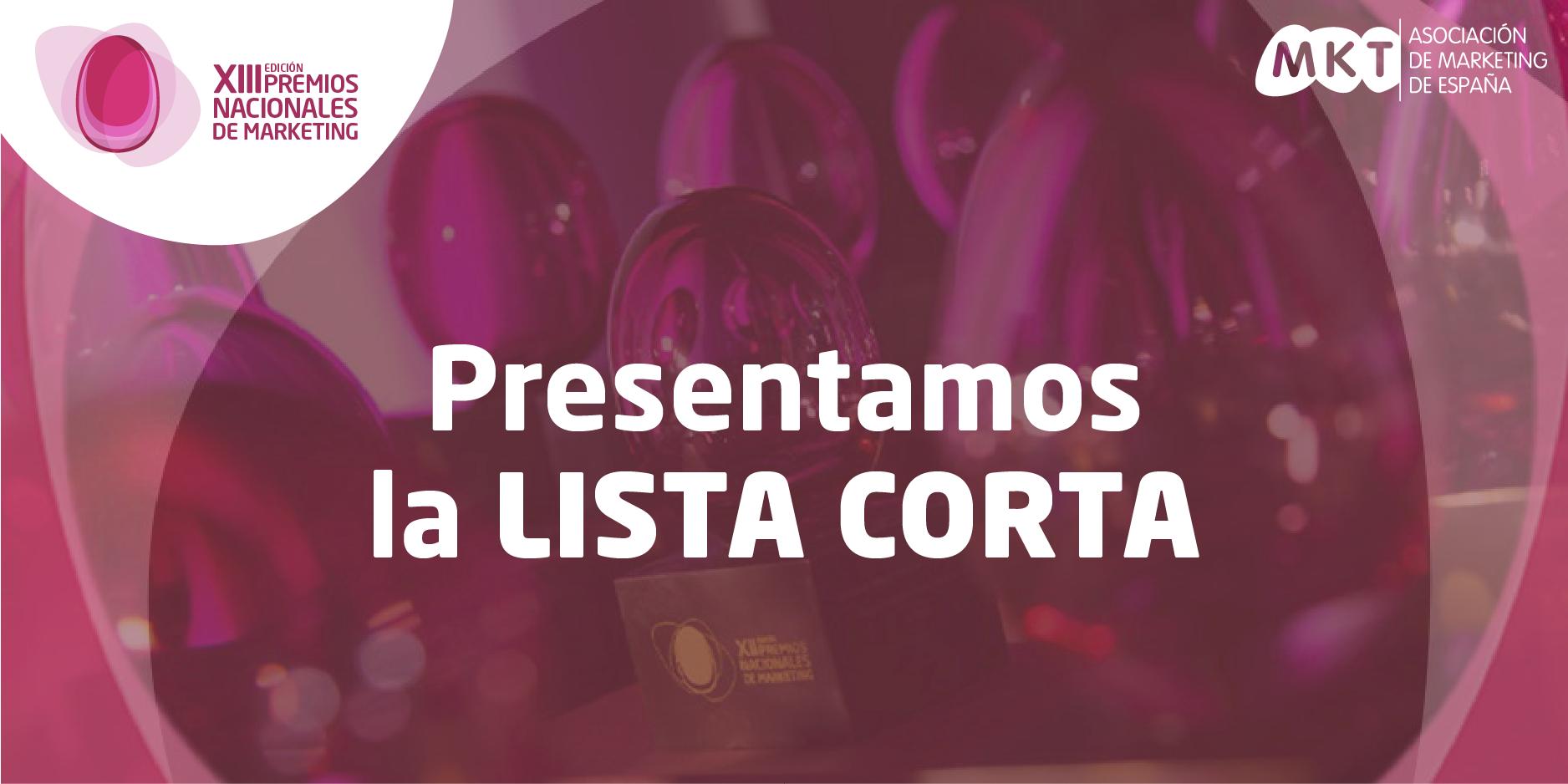 Lista Corta XIII edición Premios MKT