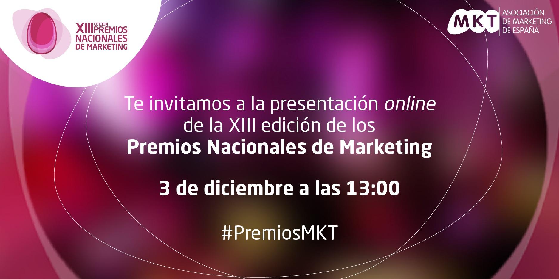 la presentación online de la XIII edición de los Premios Nacionales de Marketing